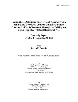 Primary view of object titled 'Feasibility of Optimizing Recovery and Reserves from a Mature and Geological Complex Multiple Turbidite Offshore California Reservoir Through the Drilling and Completion of a Trilateral Horizontal Well'.