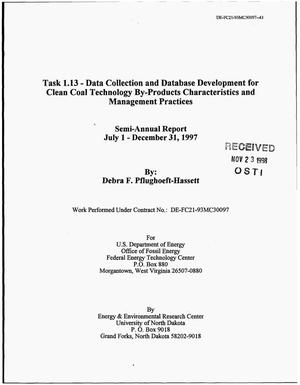 Primary view of object titled 'Task 1.13 - Data Collection and Database Development for Clean Coal Technology By-Product Characteristics and Management Practices'.
