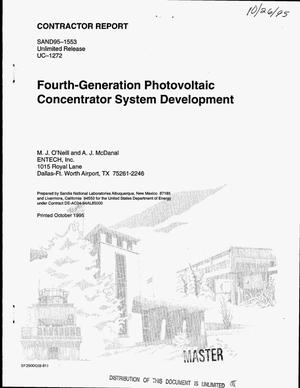 Primary view of object titled 'Fourth-generation photovoltaic concentrator system development'.