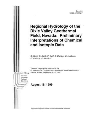 Primary view of object titled 'Regional hydrology of the Dixie Valley geothermal field, Nevada: preliminary interpretations of chemical and isotopic data'.