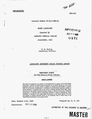 Primary view of object titled 'Laboratory instrument design progress report, October 1--31, 1948'.