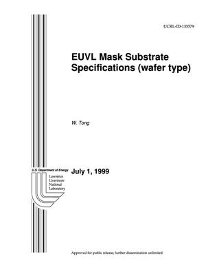 Primary view of object titled 'EUVL mask substrate specifications (wafer-type)'.