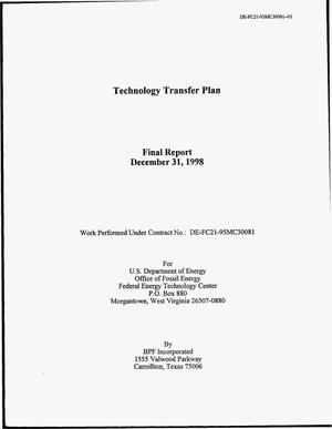 Primary view of object titled 'Technology Transfer Plan'.