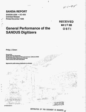 Primary view of object titled 'General performance of the SANDUS digitizers'.