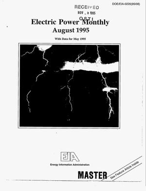 Primary view of object titled 'Electric Power Monthly: August 1995'.