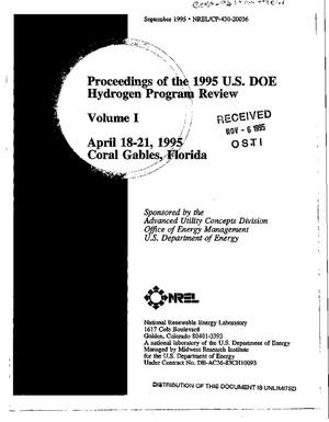 Primary view of object titled 'Proceedings of the 1995 U.S. DOE hydrogen program review, Volume 1'.
