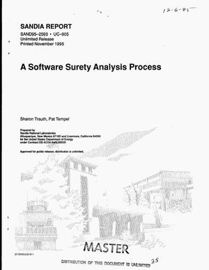 Primary view of object titled 'A software surety analysis process'.