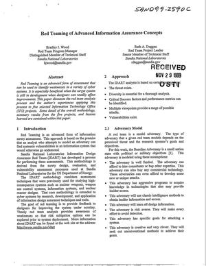 Primary view of object titled 'Red Teaming of Advanced Information Assurance Concepts'.