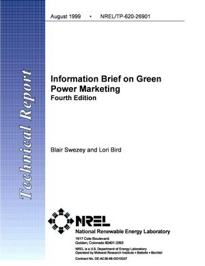 Primary view of object titled 'Information Brief on Green Power Marketing Fourth Edition'.