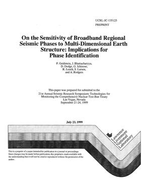 Primary view of object titled 'On the sensitivity of broadband regional seismic phases to multi-dimensional earth structure: implications for phase identification'.