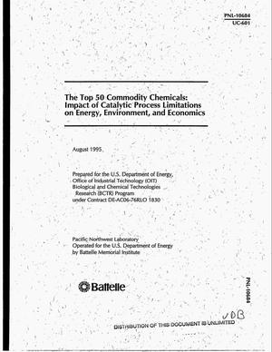 Primary view of object titled 'The top 50 commodity chemicals: Impact of catalytic process limitations on energy, environment, and economics'.