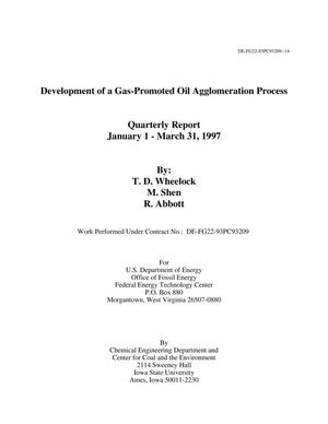 Primary view of object titled 'Development of a Gas-Promoted Oil Agglomeration Process'.