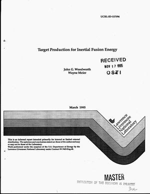 Primary view of object titled 'Target production for inertial fusion energy'.