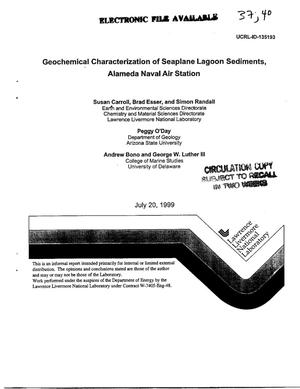Primary view of object titled 'Geochemical characterization of seaplane lagoon sediments, Alameda Naval Air Station'.