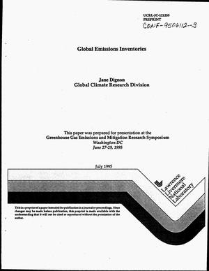 Primary view of object titled 'Global emissions inventories'.