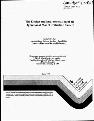 Primary view of object titled 'The design and implementation of an operational model evaluation system. Revision 1'.