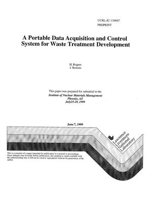 Primary view of object titled 'A portable data acquisition and control system for waste treatment development'.