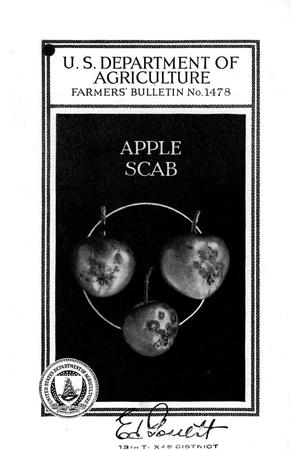 Primary view of object titled 'Apple scab.'.