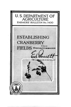 Primary view of object titled 'Establishing cranberry fields.'.