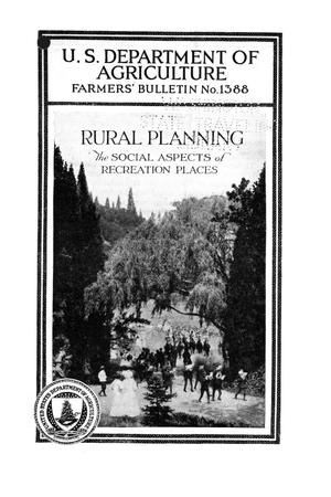 Primary view of object titled 'Rural Planning: The Social Aspects of Recreation Places.'.