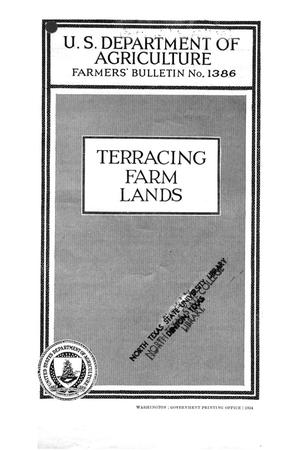 Primary view of object titled 'Terracing Farm Lands.'.