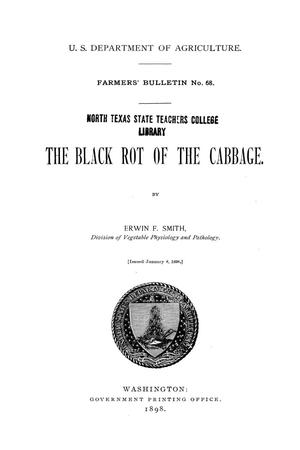 Primary view of The Black Rot of the Cabbage.