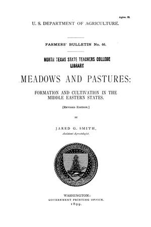 Primary view of object titled 'Meadows and pastures: formation and cultivation in the middle eastern states.'.