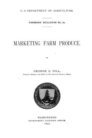 Primary view of object titled 'Marketing farm produce.'.