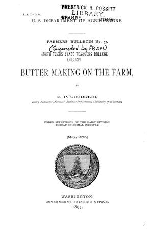 Primary view of Butter Making on the Farm.