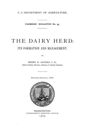 Primary view of object titled 'The dairy herd: its formation and management.'.