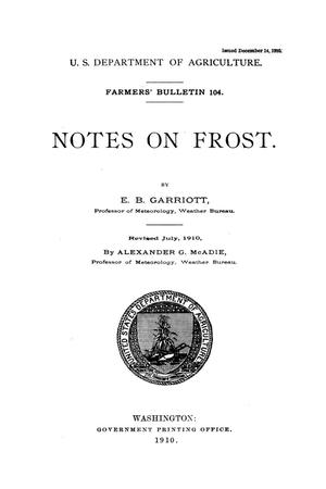 Primary view of object titled 'Notes on frost.'.