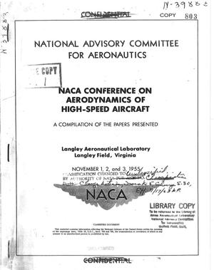 Primary view of object titled 'NACA Conference on Aerodynamics of High-Speed Aircraft'.