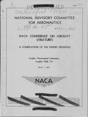 Primary view of object titled 'NACA Conference on Aircraft Structures'.