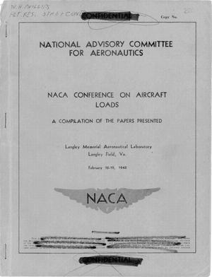 Primary view of object titled 'NACA Conference on Aircraft Loads'.