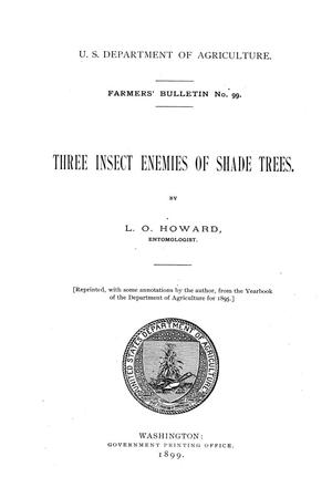 Three insect enemies of shade trees.