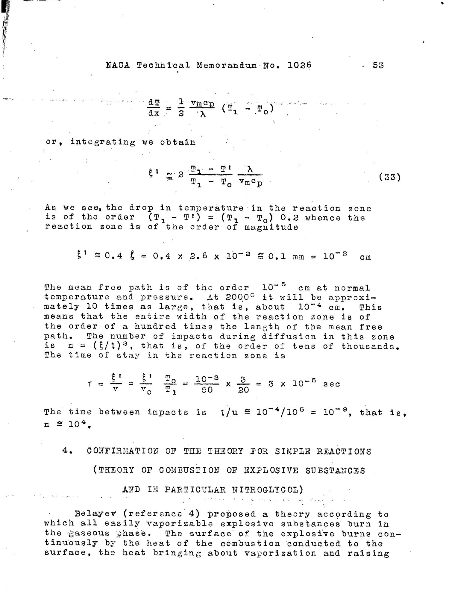 Thermal Theory Of Combustion And Explosion 3 Theory Of Normal Flame Propagation Page 54 Of 80 Unt Digital Library