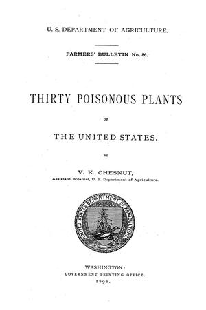 Thirty poisonous plants of the United States.