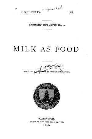 Milk as food.