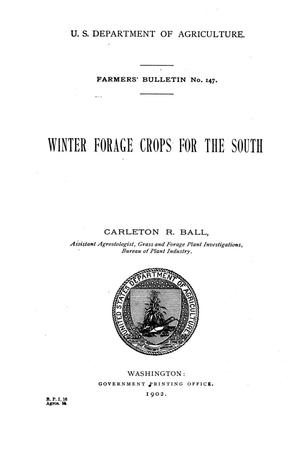 Primary view of Winter Forage Crops for the South.