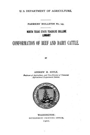 Primary view of object titled 'Conformation of beef and dairy cattle.'.