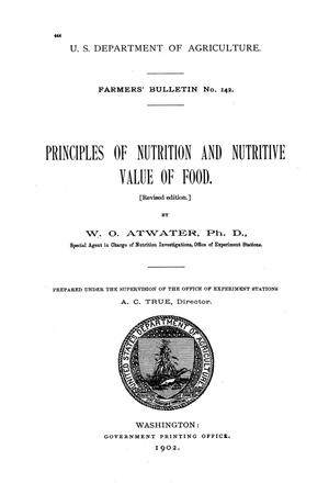 Primary view of object titled 'Principles of nutrition and nutritive value of food.'.