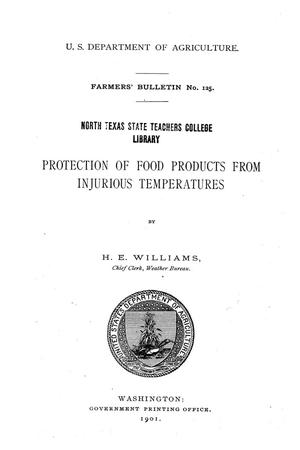 Primary view of Protection of Food Products From Injurious Temperatures.