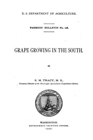 Primary view of object titled 'Grape growing in the South.'.