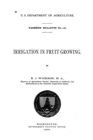 Primary view of object titled 'Irrigation in fruit growing.'.