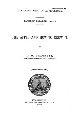 Primary view of object titled 'The apple and how to grow it.'.