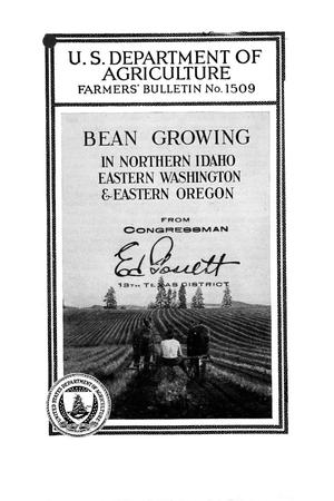 Primary view of object titled 'Bean growing in northern Idaho, eastern Washington, and eastern Oregon.'.