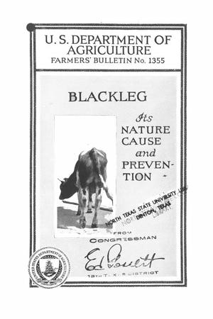 Blackleg : its nature, cause, and prevention.