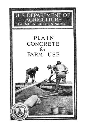 Primary view of object titled 'Plain concrete for farm use.'.