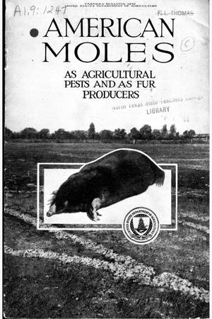 Primary view of object titled 'American moles as agricultural pests and as fur producers.'.