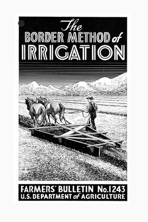 The border method of irrigation.